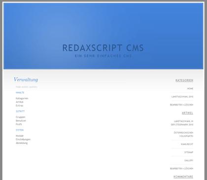 Redaxscript CMS Admin