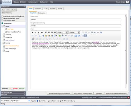 SilverStripe Editor