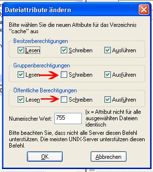 Dateiattribute ändern
