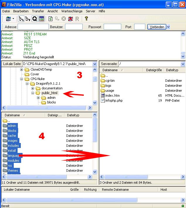 FTP Datein übertragen