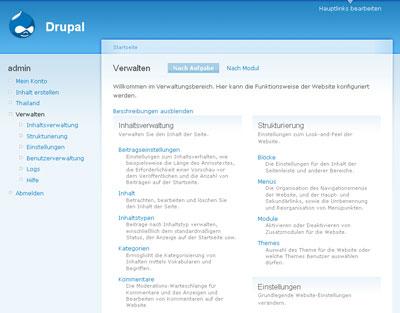 Drupal Editorbereich