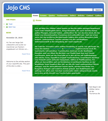 Jojo - Open Source CMS Content Management System