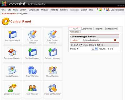Joomla 1.x Admin