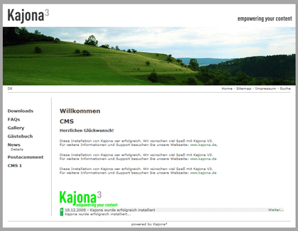 Kajona - Open Source Content Management System Framework