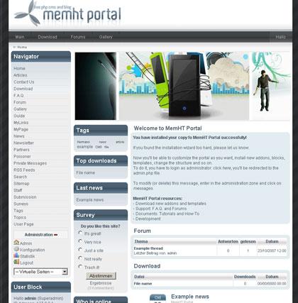 MemHT Portal & Content Management System