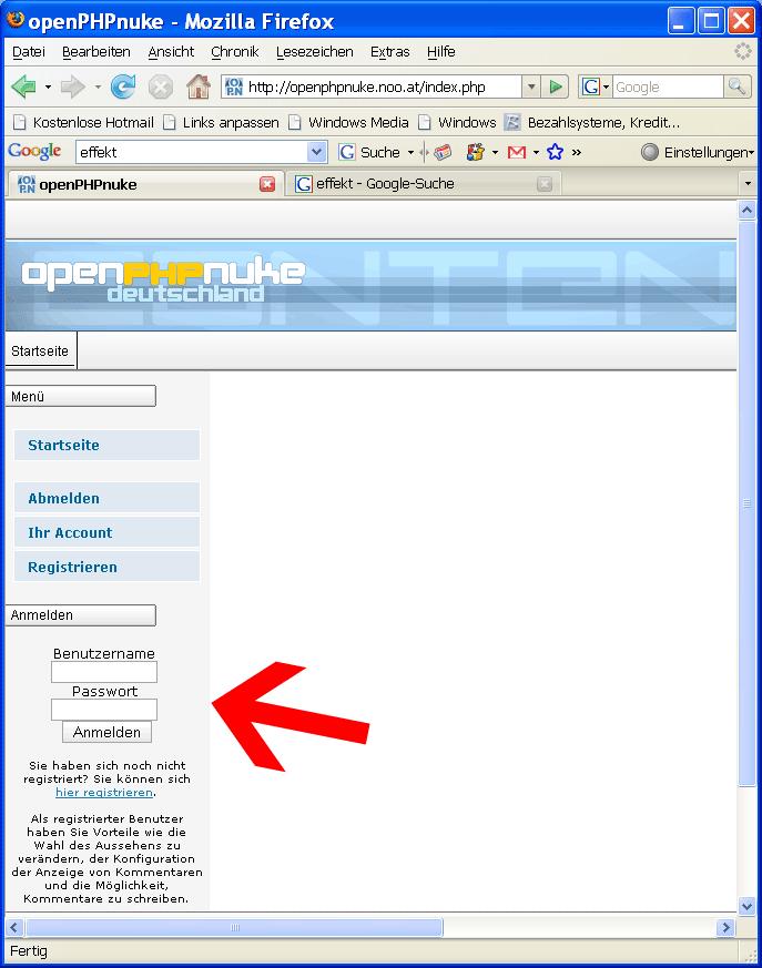 Administrator - Zugang