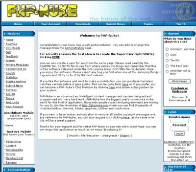 PHP-Nuke Besucheransicht