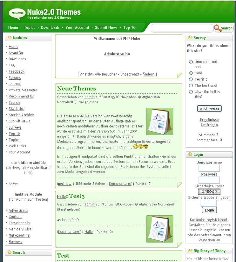 PHP-Nuke CMS Screenshots