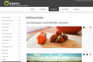 Papoo Content Management System Slider