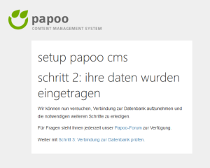 Papoo Config