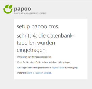 Papoo Passwort